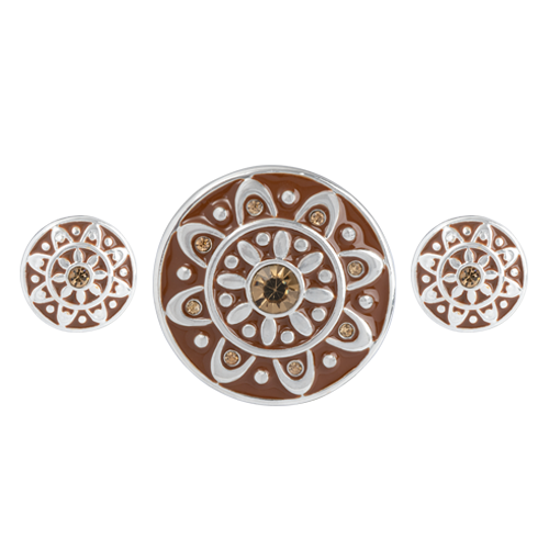 Brown Emblem Statement Set